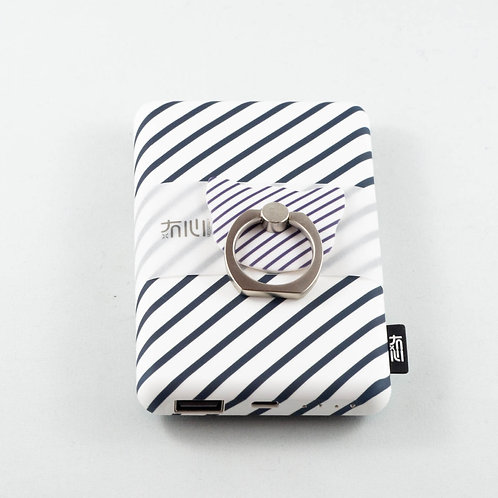 Fancy Abstract Power Bank White Zebra