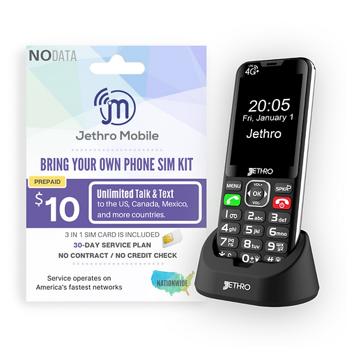 Jethro SC490 with 30 Days Unlimited Talk & Text Plan
