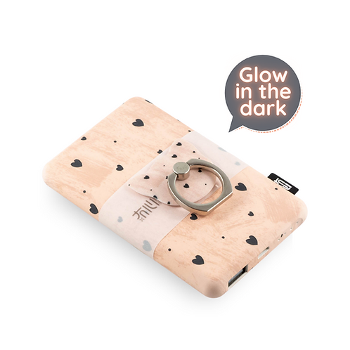 Glow In The Dark Power Bank Baby Pink