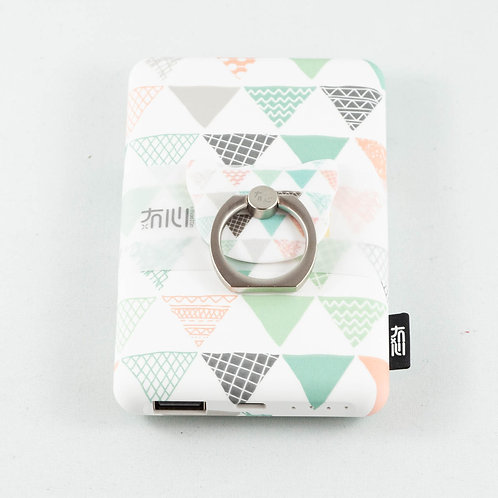 Fancy Abstract Power Bank Green Triangle Doodles