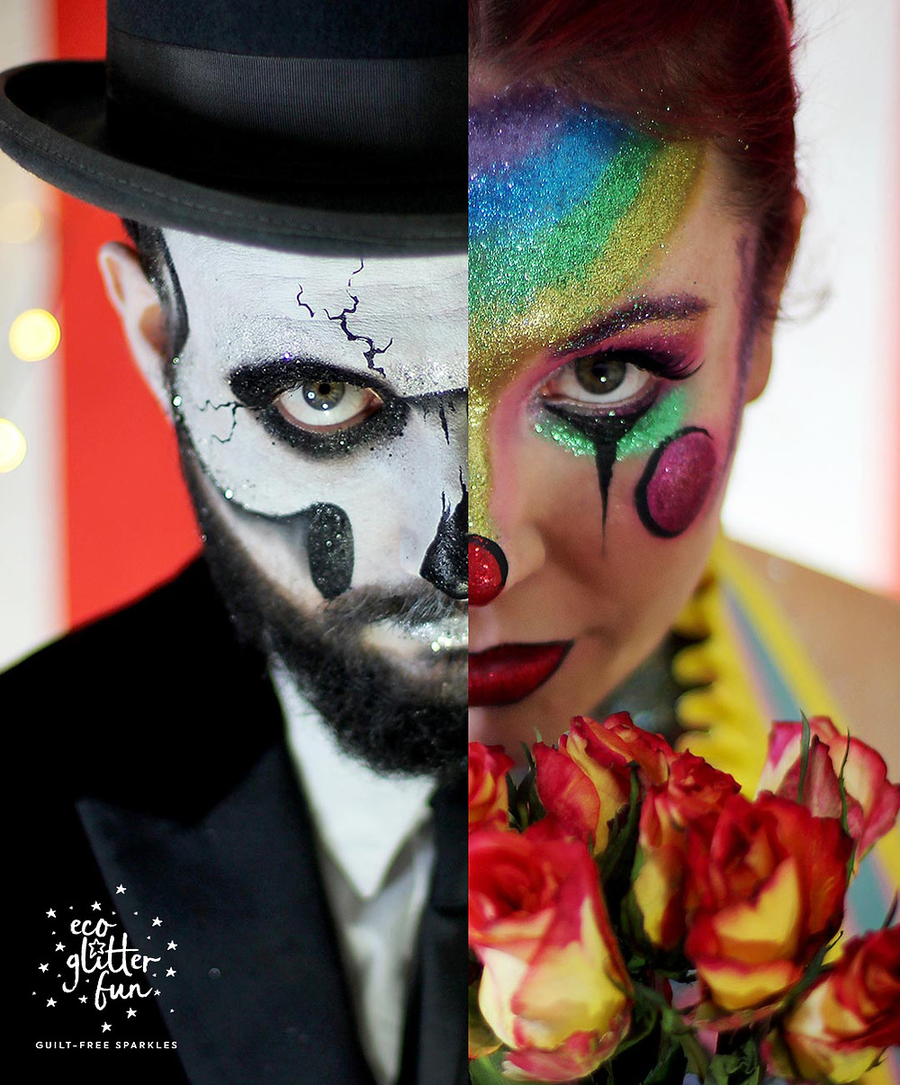 Halloween makeup ideas with Glitter by Eco Glitter Fun