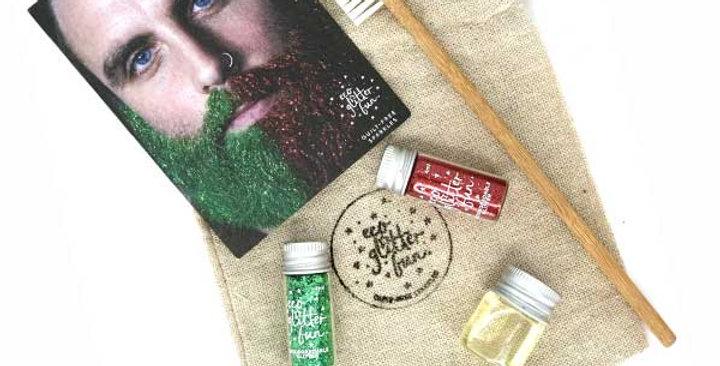 Eco Glitter Fun Beard Linen Bag Set