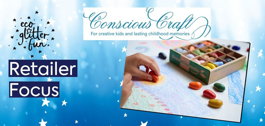 Eco Glitter Fun retailer Conscious Crafts