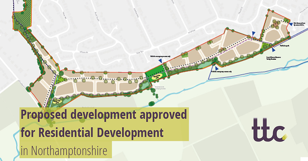 Proposed development approved for Residential Development in Northamptonshire