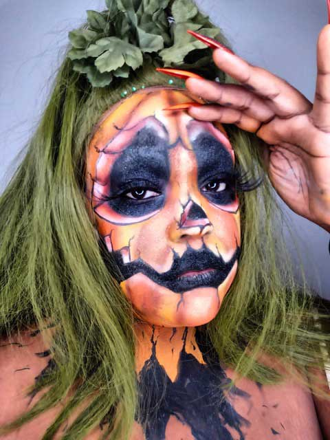 Halloween Pumpkin makeup look by Eco Glitter Fun Ambassador, Endea