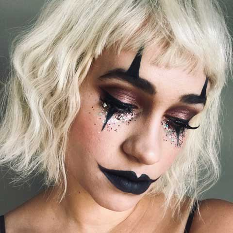 Halloween Mime makeup look by Eco Glitter Fun Ambassador Dorottya'