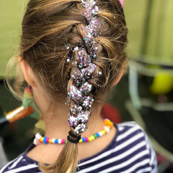 Eco Glitter roots for plaits