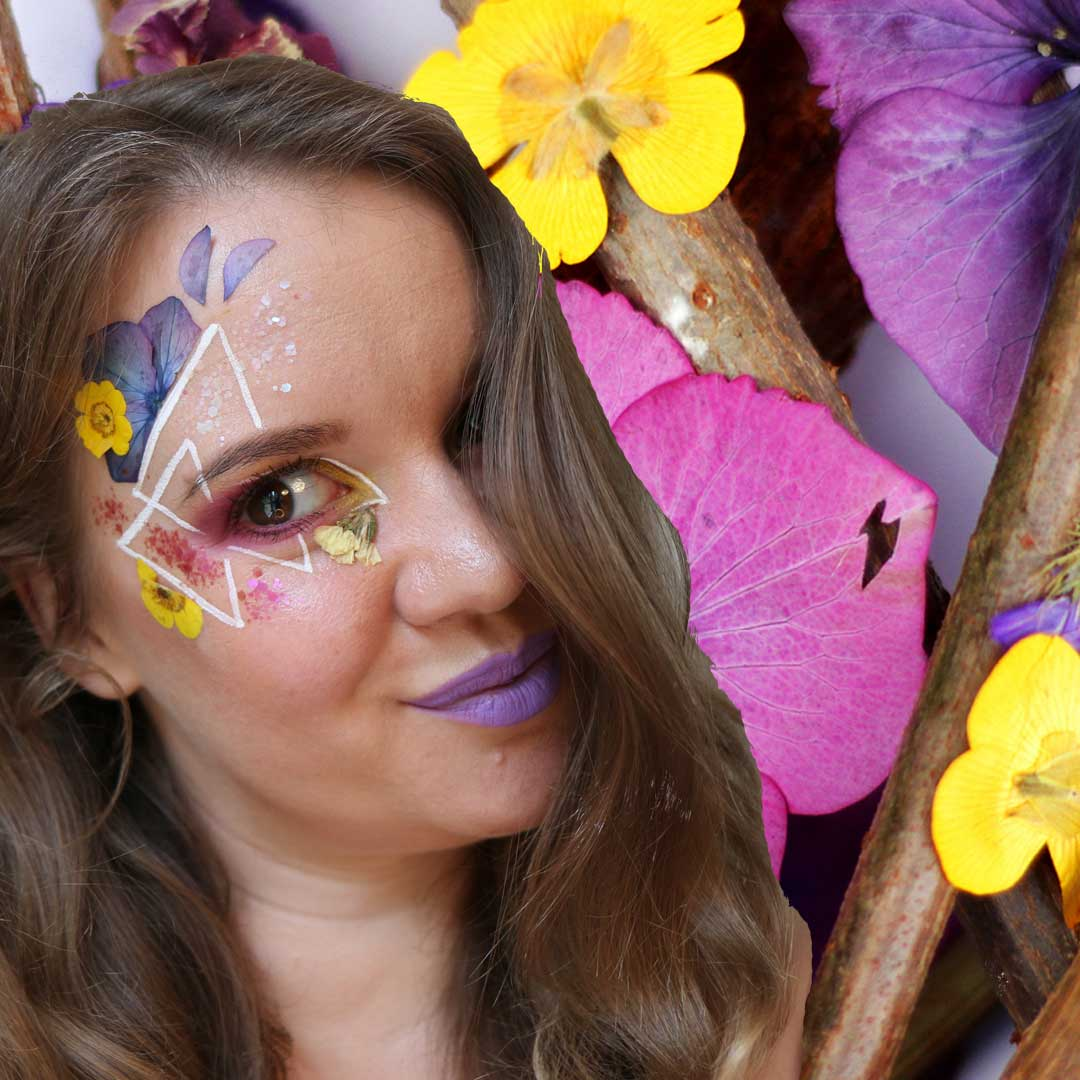 Face Florals and Make up