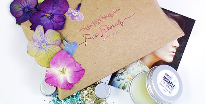 face florals Bioglitter® sparkle glitter gift set