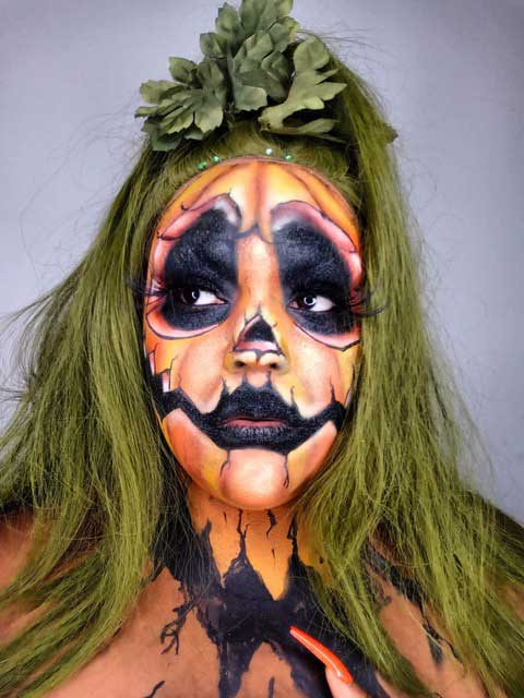 Halloween Pumpkin makeup look by Eco Glitter Fun Ambassador Endea