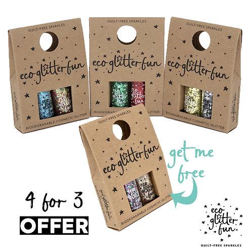 4 for 3 Bioglitter® Sparkle minibox offer