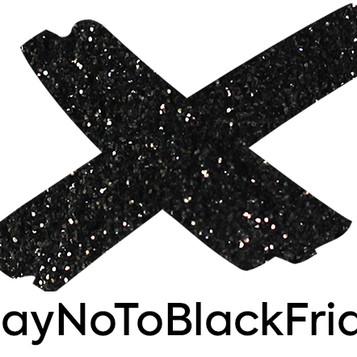 Eco Glitter Fun say NO to Black Friday consumerism