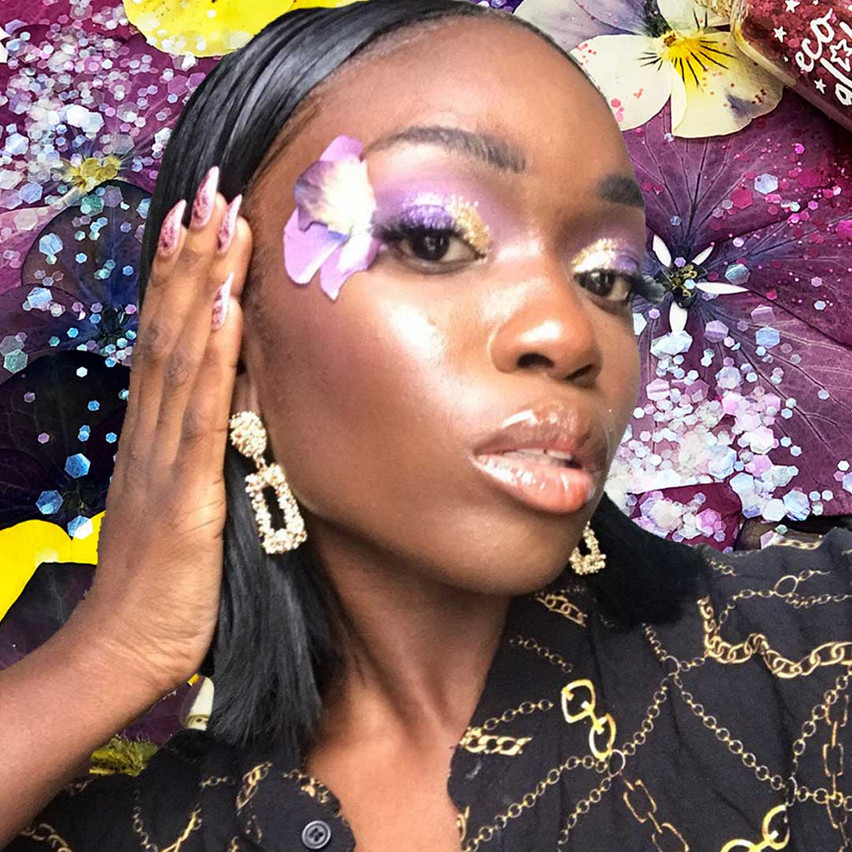 Face Floral and Eco glitter