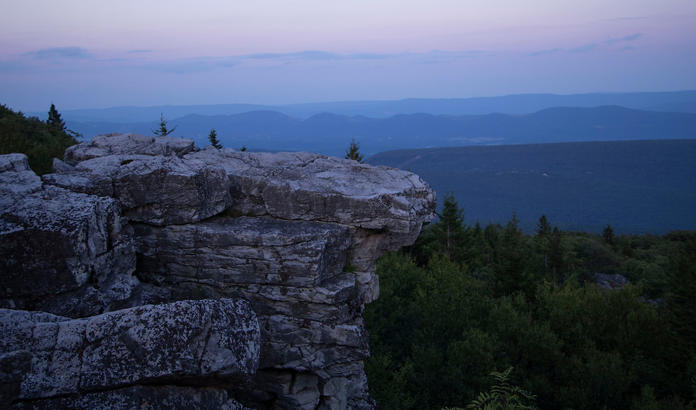 Bear Rock, Dolly Sods West Virginia. Blu