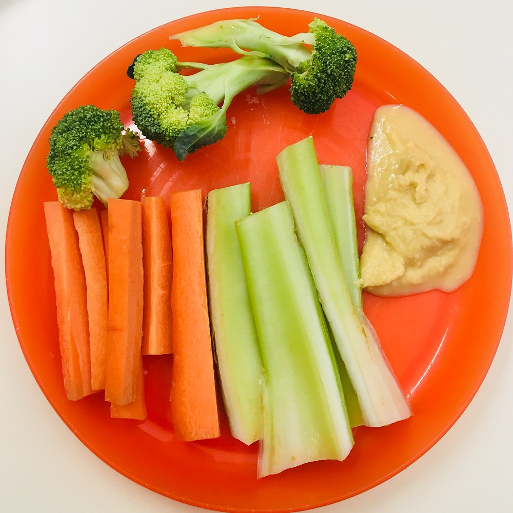 Veggie sticks and dip