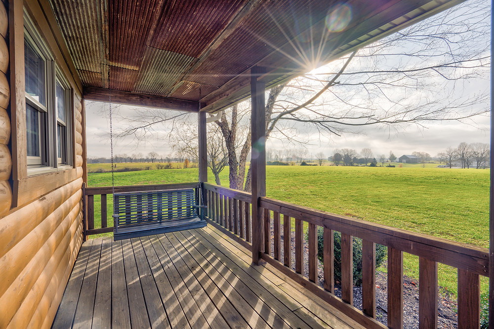 Beautiful Farm Porch