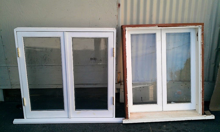 A custom window we built to match a Victorian home