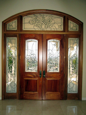 A Custom Transom Sidelite unit built in our shop