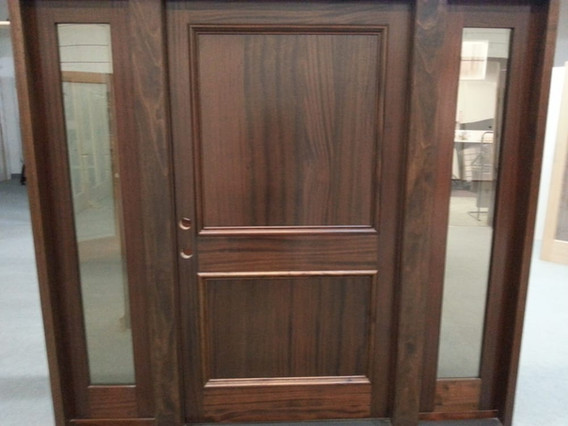 A custom sidelight unit we built