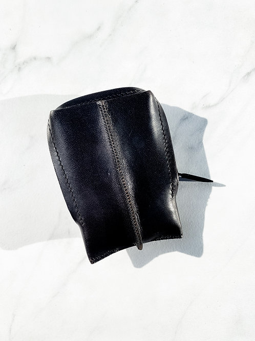 vertical zip wallet