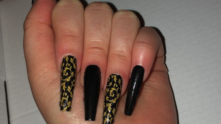 Versace inspired nails