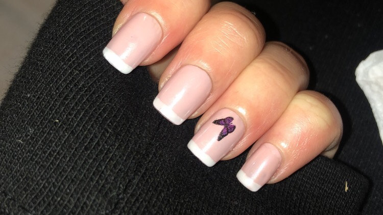 Butterfly French tips