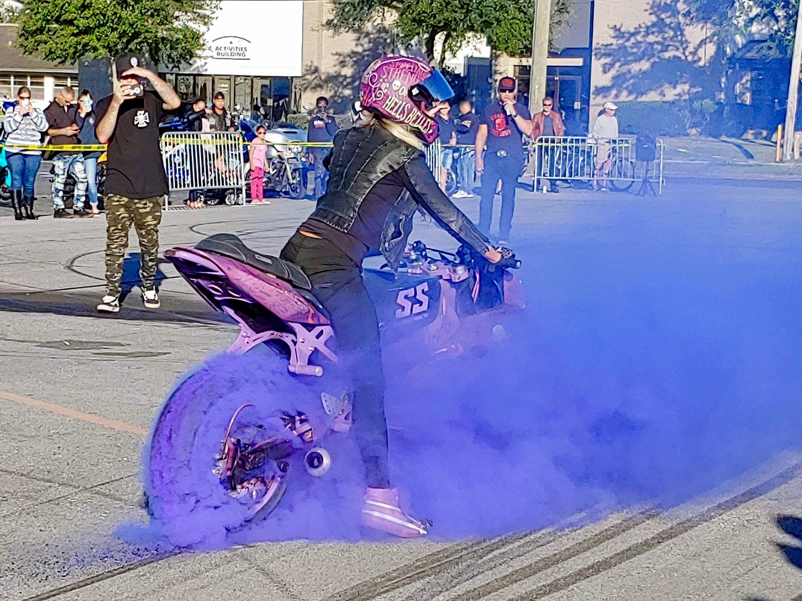 thick purple burnout
