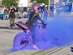 thick purple burnout