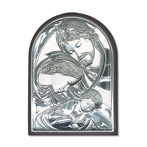 "Icona in bilaminato Argento ""Sacra Famiglia"""