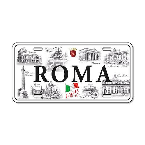"""Targa in metallo Vintage """"Roma - Monumenti"""""""