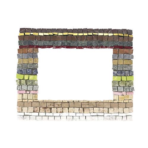 Cornice Portafoto in Mosaico di smalti Veneziani, marmi policromi e oro