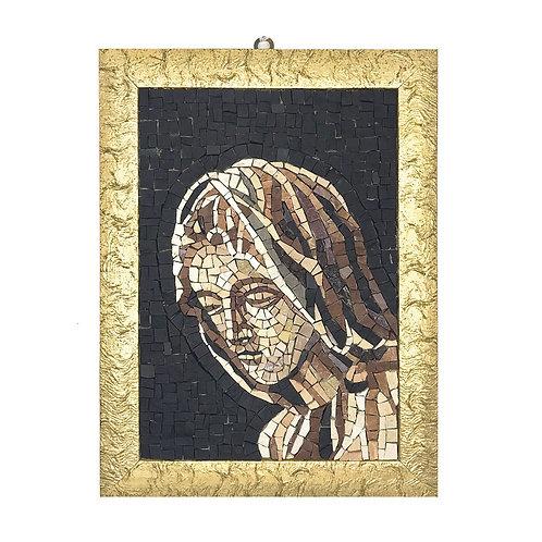 """Mosaico """"Volto della Madonna"""" di marmi policromi"""
