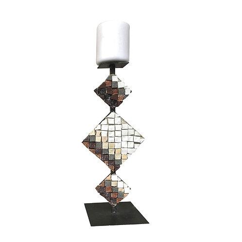 Candeliere di design in Mosaico di marmi policromi