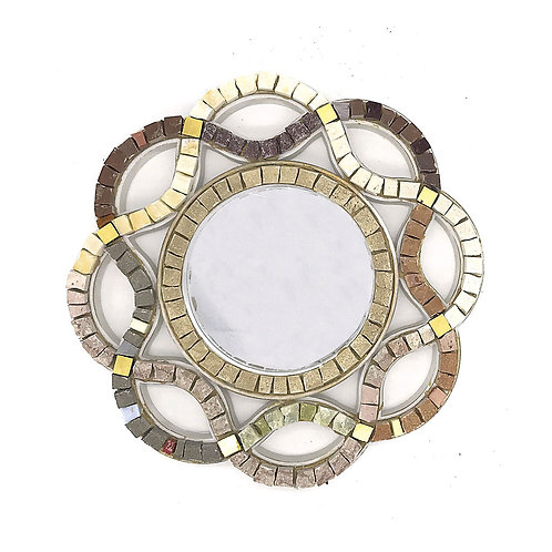 Specchio in Mosaico di smalti Veneziani, marmi policromi e oro
