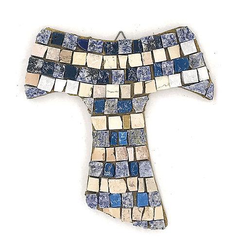 Croce Tau in Mosaico di smalti Veneziani, marmi policromi e oro