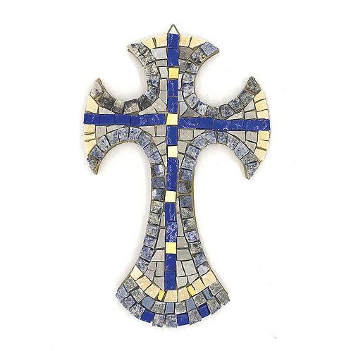 Croce in Mosaico di smalti Veneziani, marmi policromi e oro