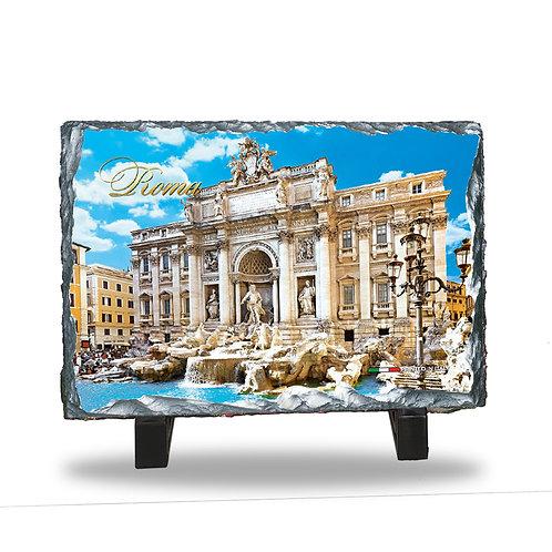 """Quadretto in Ardesia da tavolo """"Fontana di Trevi"""""""