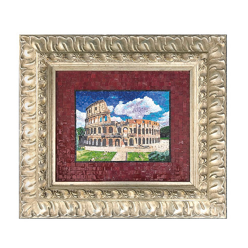 """Mosaico Artistico """"Colosseo"""" con smalti Veneziani e marmi pregiati"""