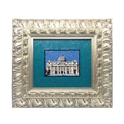 """Mosaico Artistico """"Basilica di San Pietro"""" con smalti Veneziani e marmi pregiati"""