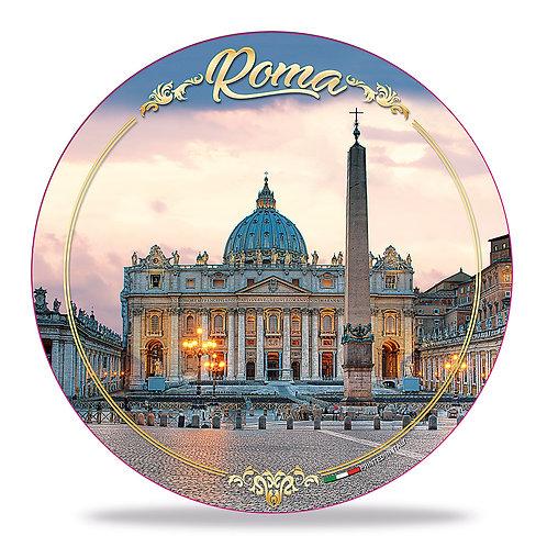 """Piatto decorativo in Ceramica """"Roma - San Pietro"""""""