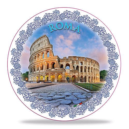"""Piatto decorativo in Ceramica """"Roma - Colosseo"""""""