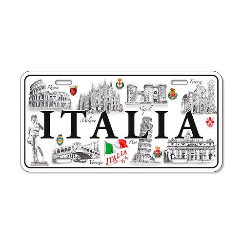 "Targa in metallo Vintage ""Italia - Monumenti"""