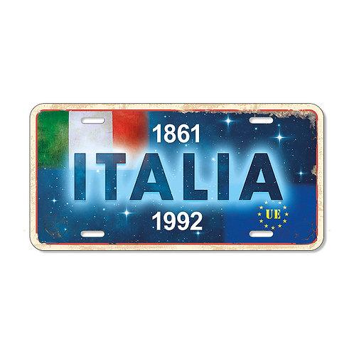 "Targa in metallo Vintage ""Italia"""