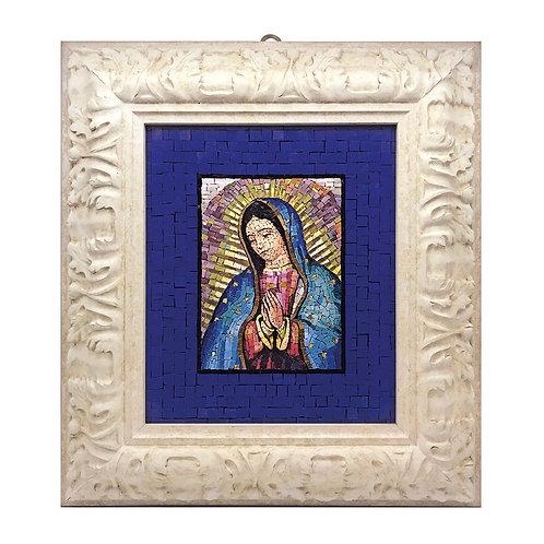 """Mosaico Artistico """"Madonna di Guadalupe"""" con smalti Veneziani e marmi pregiati"""