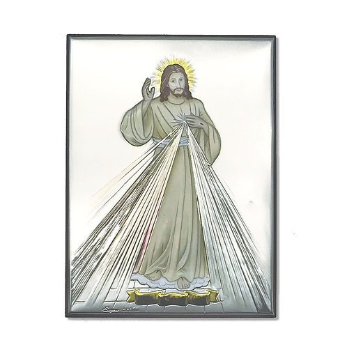 """Icona in Argento """"Gesù Misericordioso"""""""