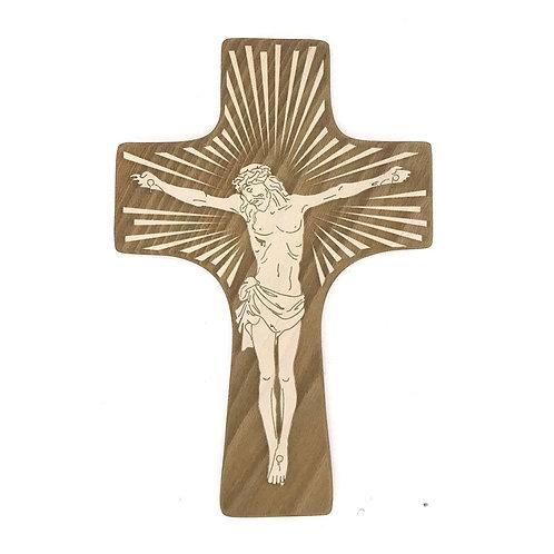 Crocifisso in legno con incisione