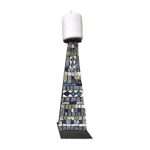 Candeliere di design in Mosaico di smalti Veneziani,  marmi policromi