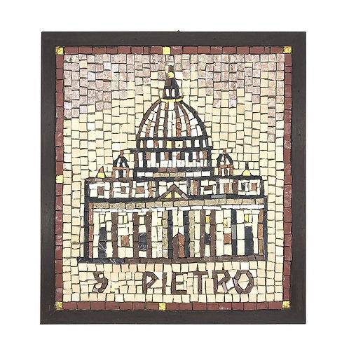 """Mosaico """"San Pietro"""" di smalti Veneziani, marmi policromi e oro"""