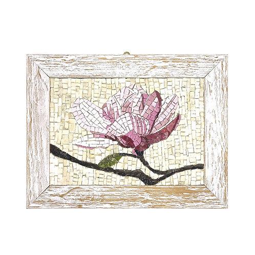 """Mosaico """"Fiore di Loto"""" di smalti Veneziani e marmi policromi"""
