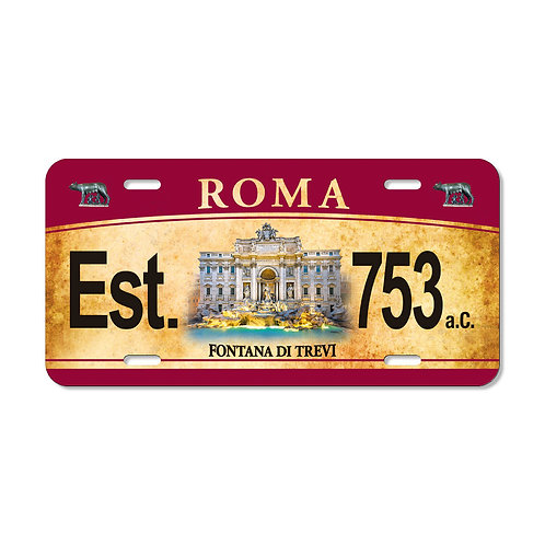 "Targa in metallo Vintage ""Roma - Fontana di Trevi"""